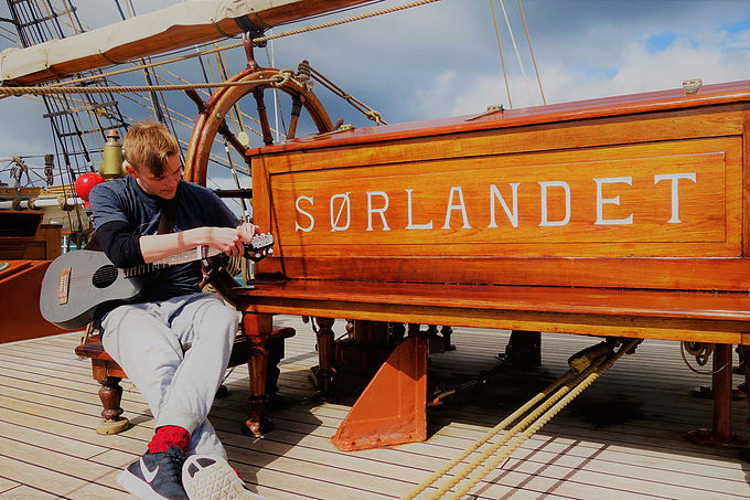 Sailing Around the World…with a KLOS Guitar