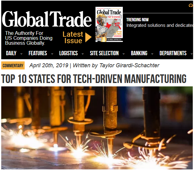 Utah Among Top 10 for Tech-Driven Manufacturing