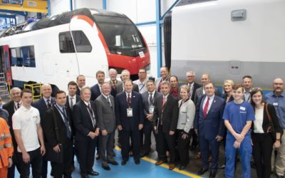 Gov. Herbert Visits Stadler Rail Facility in Switzerland