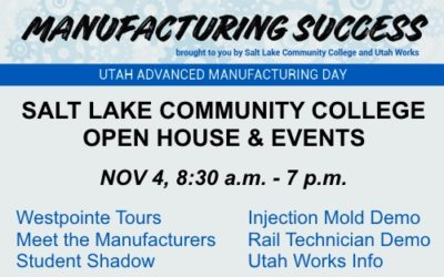 Nov 4th – SLCC Westpointe Center Open House & Events