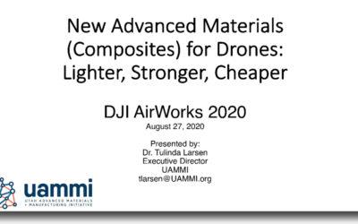Advanced Materials for Drones – Presentation by Dr. Tulinda Larsen