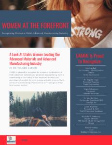 UAMMI Recognizes Women In Utah Manufacturing Cover Image
